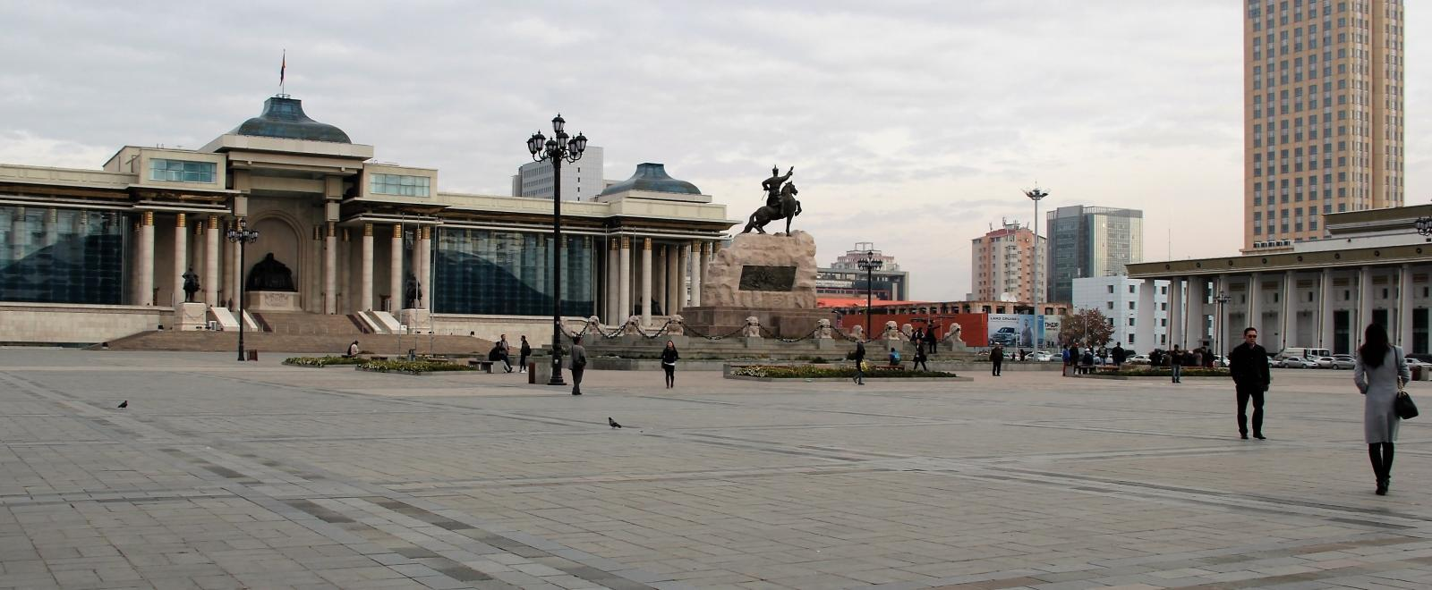 Parliament at Sukhbaatar Square, a site to visit during a Law internship in Mongolia.